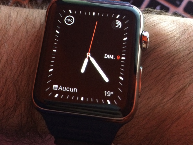 Un cadran carré pour l'Apple Watch carrée