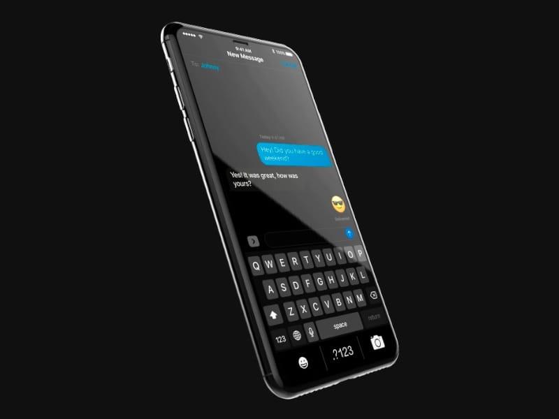 iPhone 8 et mode sombre d
