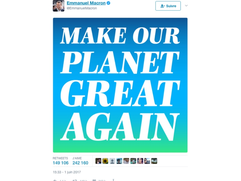 Make Our Planet Great Again, avec InDesign et Typofonderie