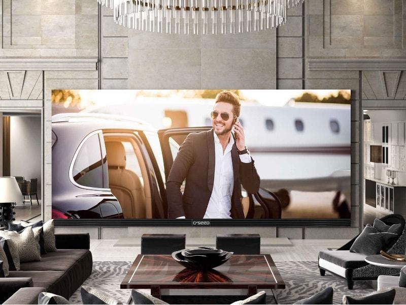 800kg et 539000$ pour cette TV 4K de 262pouces