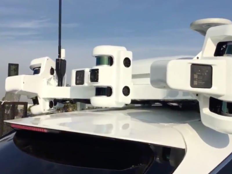 Une voiture autonome d'Apple vue de près