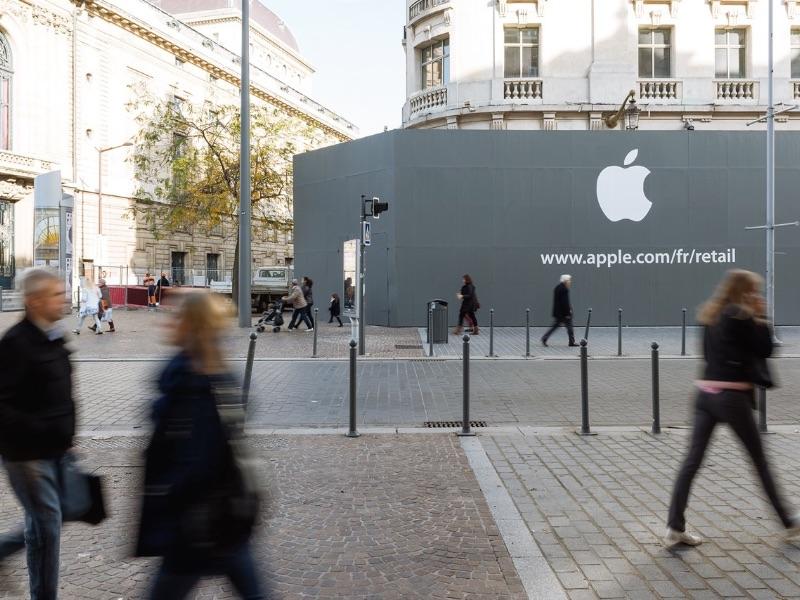 Apple s'affiche a Lille...