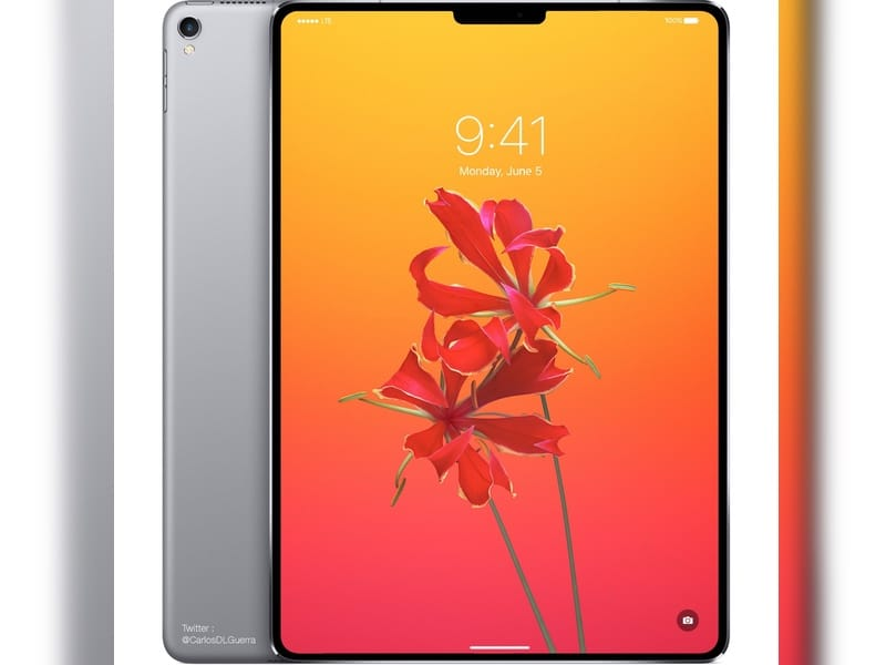Et voici l'iPad Pro X avec Face ID (et une encoche) !