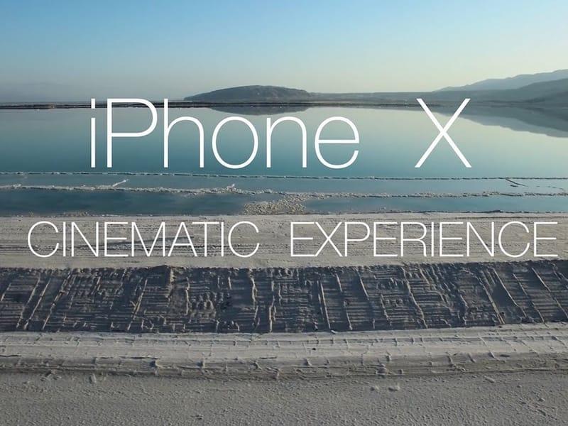 Première vidéo tournée avec un iPhone X
