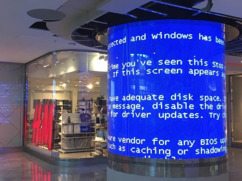 L'écran bleu de la mort de Windows tourne en rond