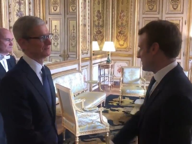 Emmanuel Macron a capturé Tim Cook