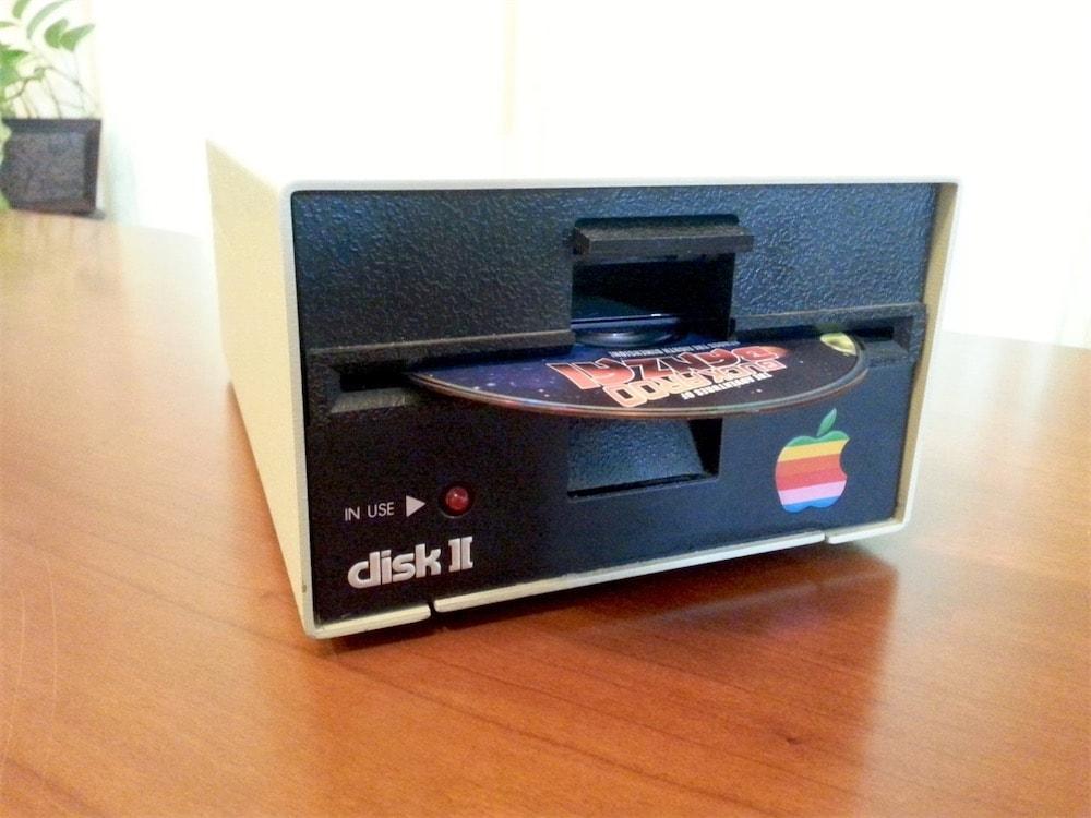 Un Apple DiskII recyclé en lecteur Blu-ray