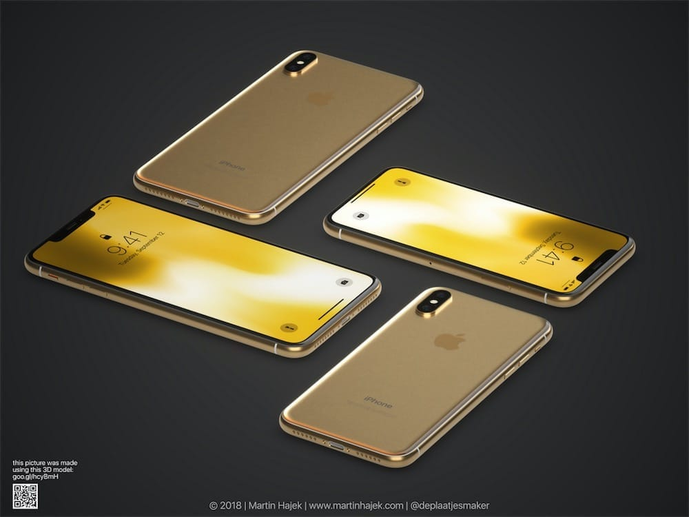 Et voici (presque) l'iPhone X doré!