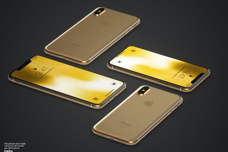 image en galerie : Et voici (presque) l'iPhone X doré!