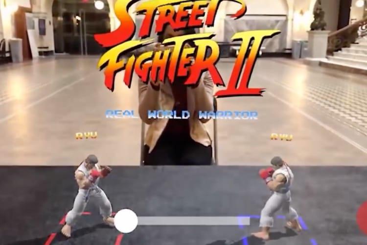 Image en galerie : Street Fighter prend tout son sens en réalité augmentée