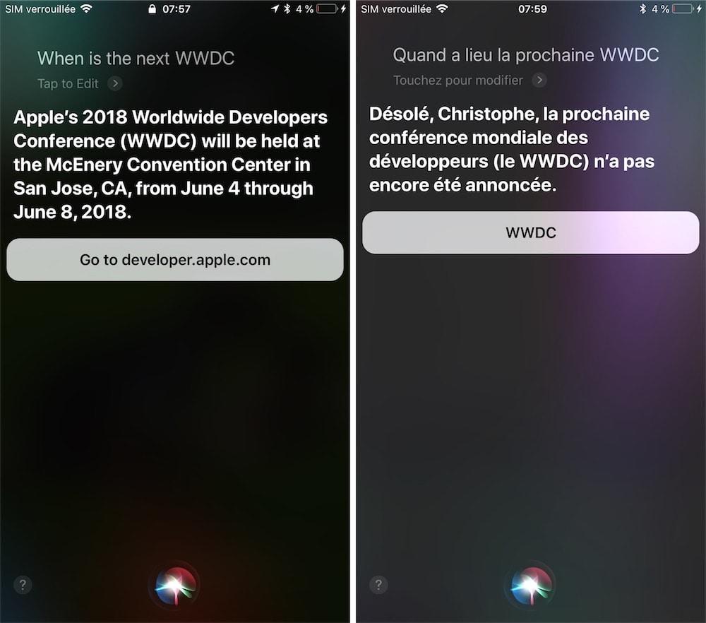 Siri a un doute sur la prochaine WWDC