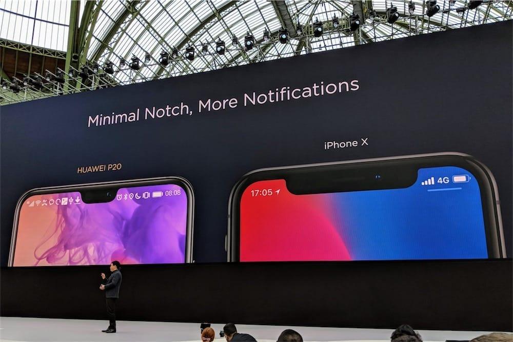 Huawei : regardez, notre encoche est plus petite que celle de l'iPhone X