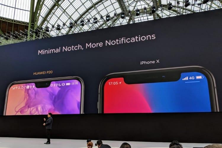 image en galerie : Huawei : regardez, notre encoche est plus petite que celle de l'iPhone X