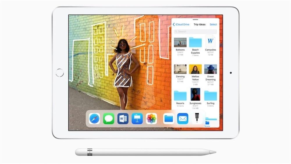 Une pub pour l'iPad 6e génération et l'Apple Pencil