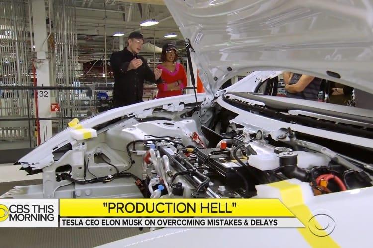 video en galerie : La télé américaine visite l'usine de production de Tesla