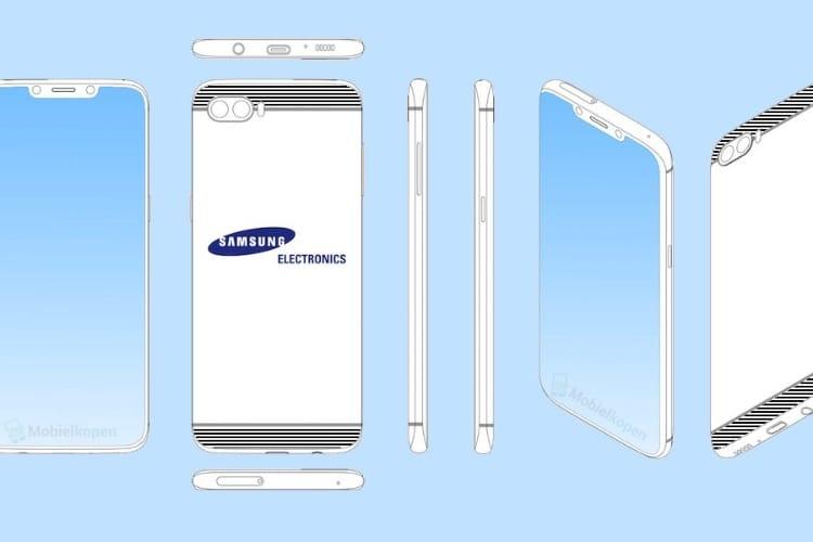 Un an avant l'iPhone X, Samsung déposait le brevet d'un smartphone à encoche