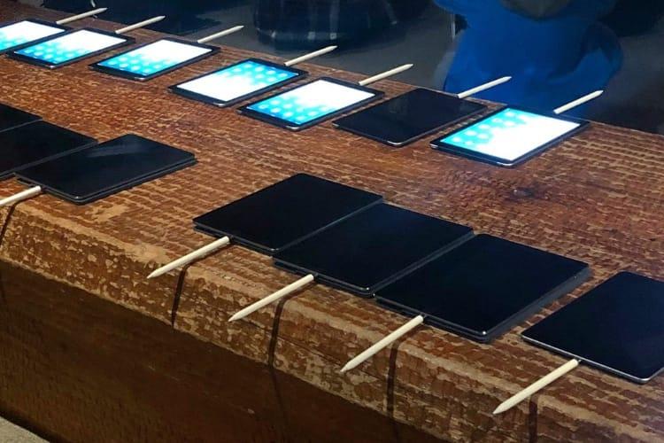 image en galerie : Des Apple Pencil en rang d'oignon dans leurs iPad