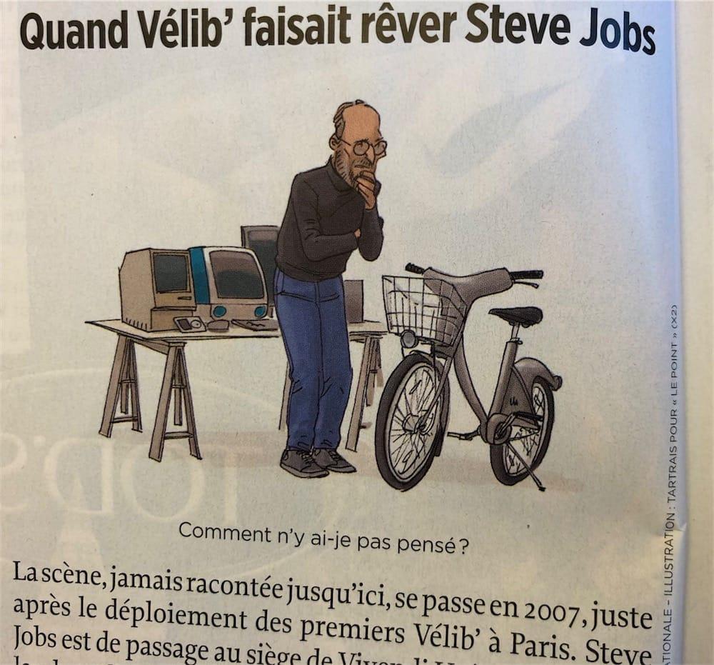 Steve Jobs voulait à tout prix tester les Vélib'