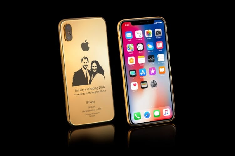 🇬🇧 Pour célébrer le royal wedding, un iPhone X en or 👰🤵