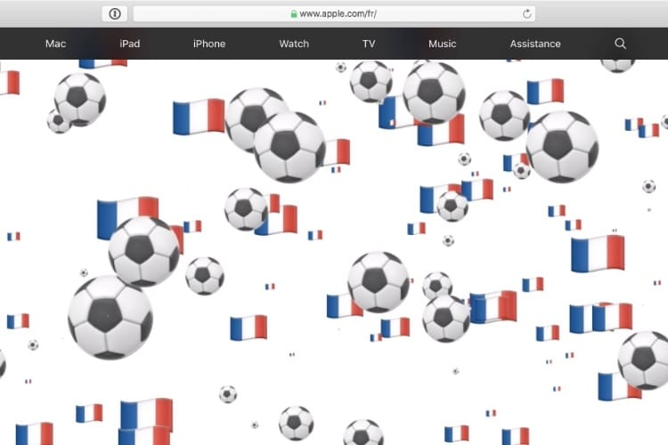video en galerie : En ce 14-Juillet, Apple fête la France et le foot