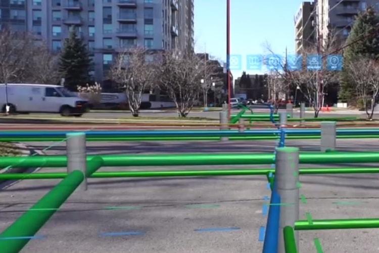 La réalité augmentée pour révéler les réseaux de canalisation