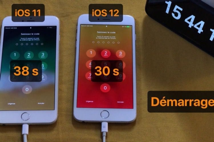 iOS11 contre iOS12 : les performances en vidéo