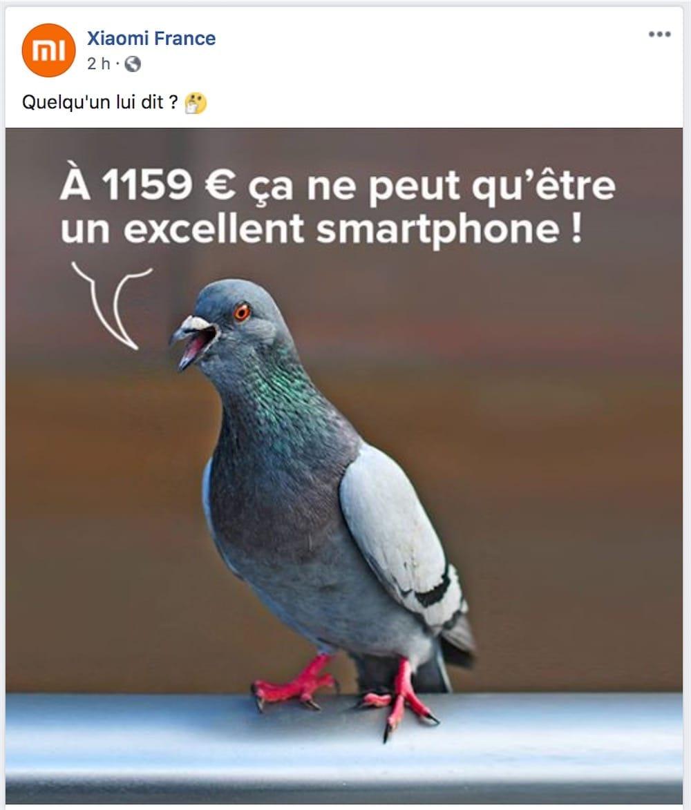 Xiaomi prend les acheteurs de l'iPhone XS pour des pigeons