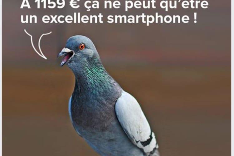 image en galerie : Xiaomi prend les acheteurs de l'iPhone XS pour des pigeons