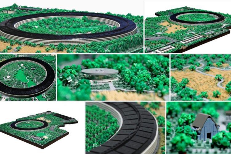 Un petit cousin d'Apple Park en Lego
