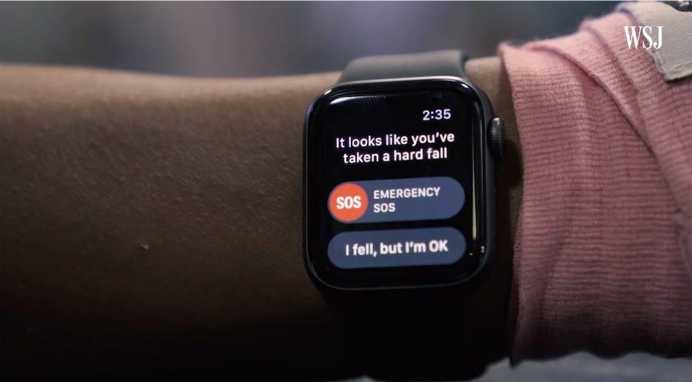 Un cascadeur professionnel pour activer la détection de chute de l'Apple Watch