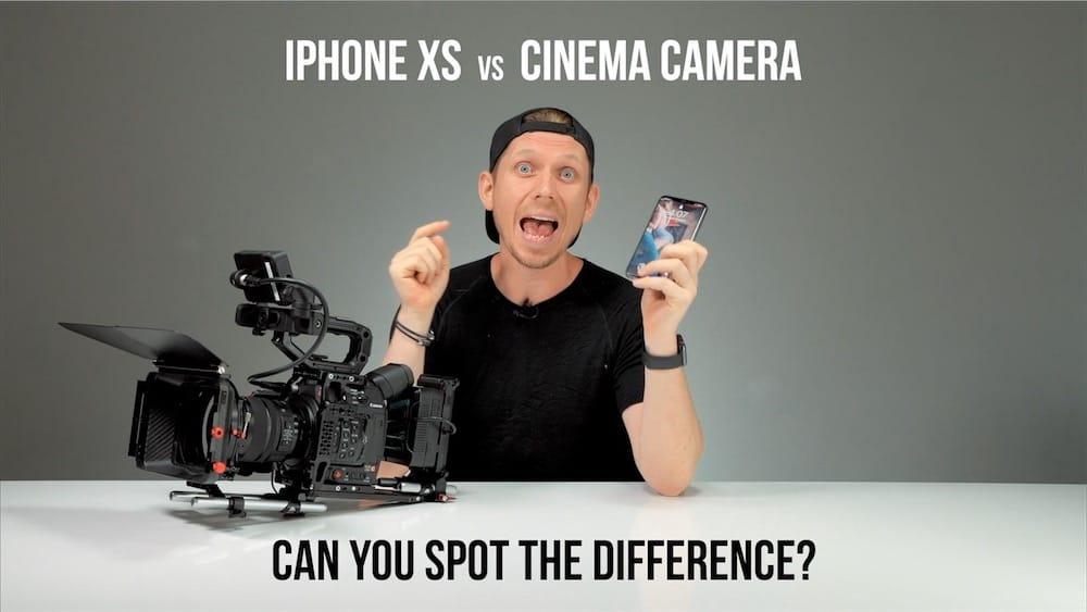 L'iPhone XSMax face à une caméra professionnelle
