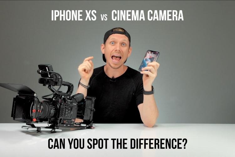 video en galerie : L'iPhone XSMax face à une caméra professionnelle