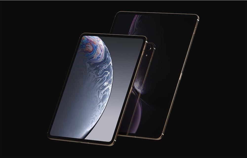 L'iPad Pro 2018 bien rendu dans cette vision de designer