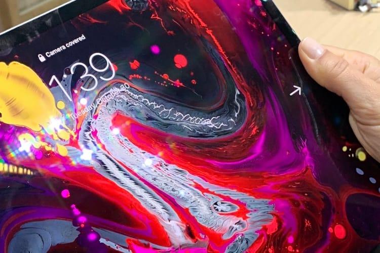 image en galerie : iPad Pro : que se passe-t-il quand un doigt cache FaceID?