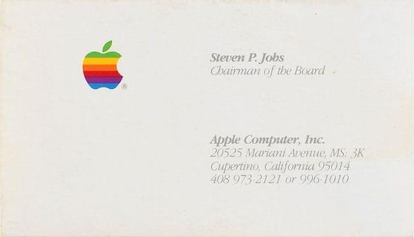 Steve Jobs Fait Toujours Vendre Plus De 6 000 La Carte Visite