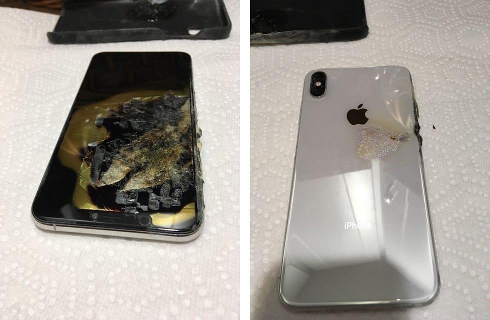 Un iPhone XS Max part mystérieusement en fumée