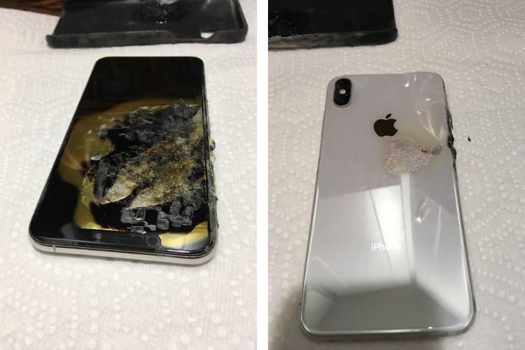 image en galerie : Un iPhone XS Max part mystérieusement en fumée